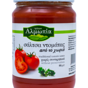 Almopia Tomatensauce aus dem Dorf (690gr)